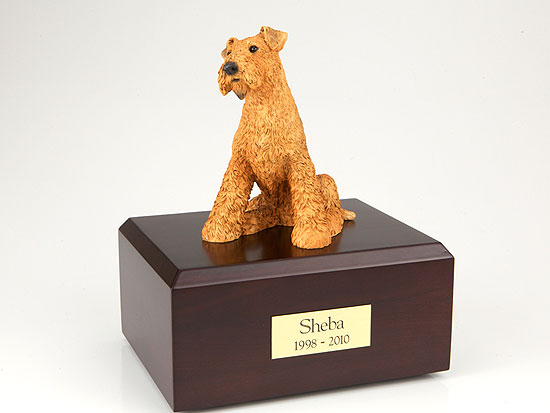 Dog, Airedale Terrier - Figurine Urn