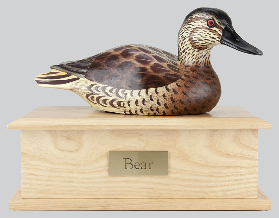 Duck Decoy Urn - Female Coloring
