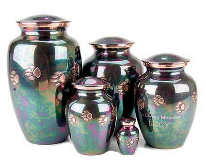 Teal Paw print Vase - X-Small