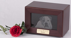 Framed Marble Photo Urns