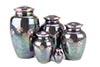 Teal Raku Paw Print Vases