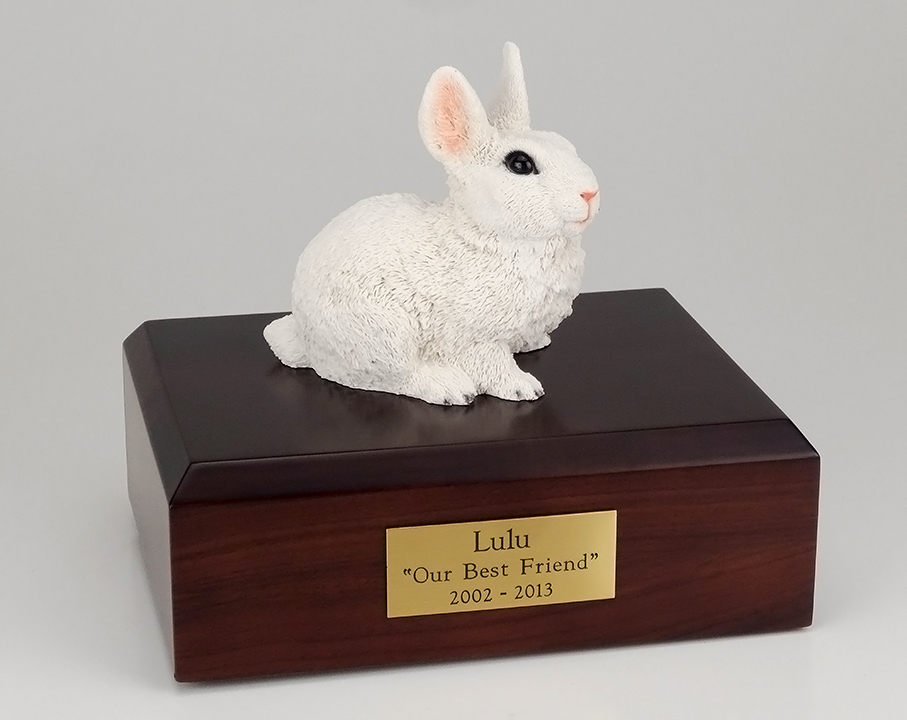 Rabbit, White - Figurine Urn