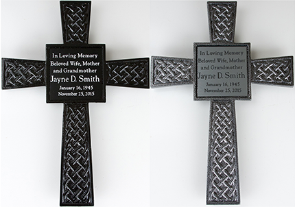 Memorial Cross with Engraved Nameplate