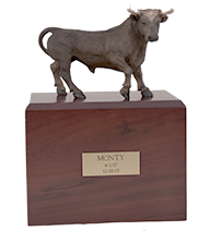 Brown Bull - Figurine Urn