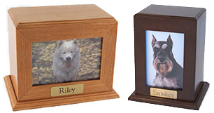 Framed Photo Urns