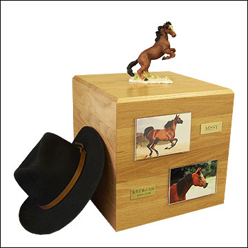 Mustang, Brown - Horse Cremation Urn