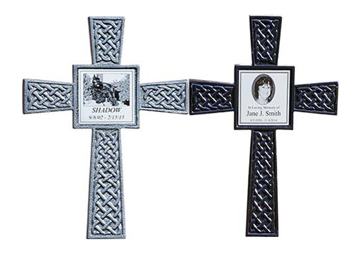 Memorial Cross with Photo Tile